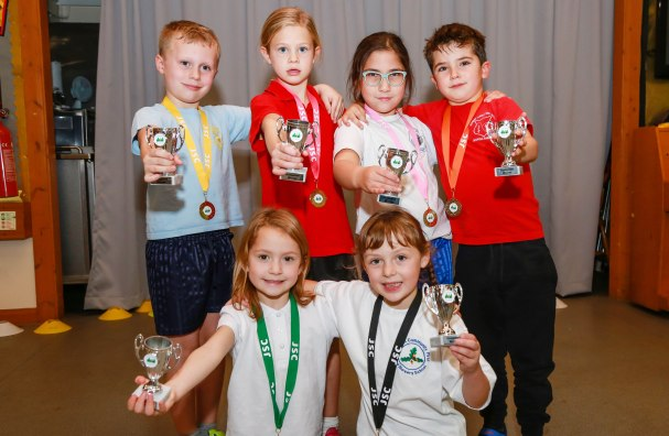 Heath Academy Trust held an inter schools Dodgeball competition for their first schools at Three Legged Cross. Players of the tournament from each school.