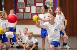 Heath Academy Trust held an inter schools Dodgeball competition for their first schools at Three Legged Cross. St Ives Primary School