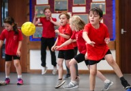 Heath Academy Trust held an inter schools Dodgeball competition for their first schools at Three Legged Cross. Sixpenny Handley First School