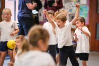 Heath Academy Trust held an inter schools Dodgeball competition for their first schools at Three Legged Cross. Oakhurst First School.
