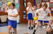 Heath Academy Trust held an inter schools Dodgeball competition for their first schools at Three Legged Cross. St Ives Primary First School