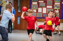 Heath Academy Trust held an inter schools Dodgeball competition for their first schools at Three Legged Cross. St Mary's West Moors First School.