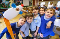 St James Church of England First School took part in a Big Art Project run by Peter Marjoram with fellow Heath Academy Trust schools.